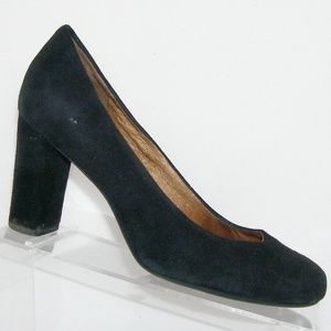 Indigo by Clarks Loyal Soul black suede heels 7.5M